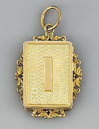 A French silver-gilt pendant v