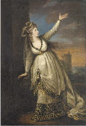 Portrait of Mrs Siddons in the