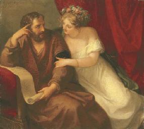 Phryne seducing the philosophe