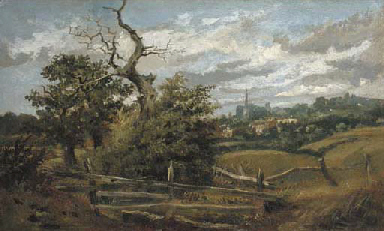A view of Hampstead Heath looking towards Cannon Place
