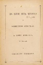 DICKENS, Charles (1812-79).  I
