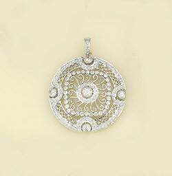 A diamond pendant,