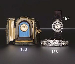 Cartier. A fine lady's platinu
