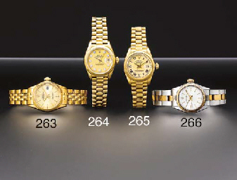 Rolex. A lady's 18K gold self-