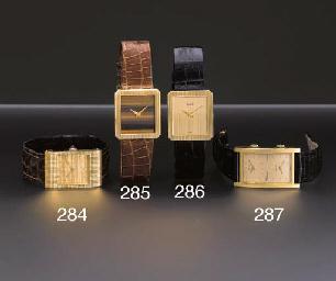 Boucheron. An 18K gold rectang