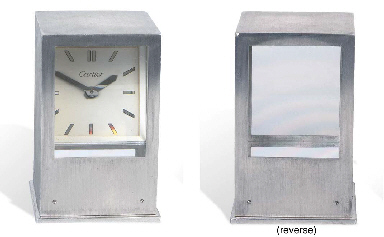 A 'PRISMA' DESK CLOCK, BY CART