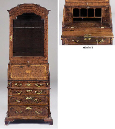 A walnut and later inlaid bure