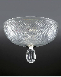 A cut glass and silvered metal
