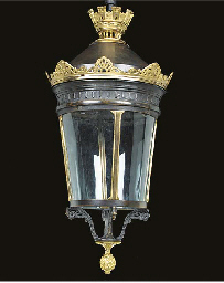 A French bronze lantern, possi