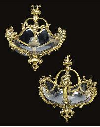 A pair of Continental brass di
