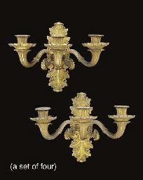 A set of four Restauration orm