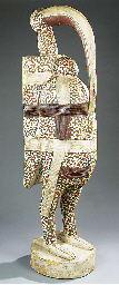 A large West African carved an