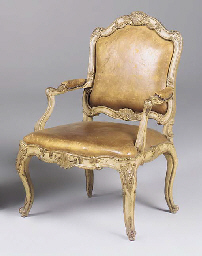 An Italian painted and gilt op