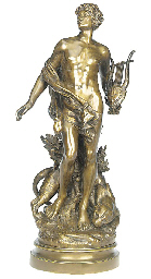 A French bronze group of Orphe