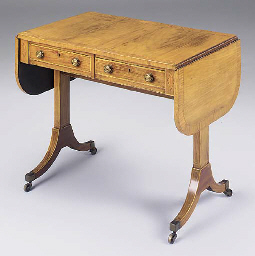 A George III rosewood, satinwo