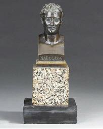 A Napoleon III bronze bust of