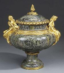 A Napoleon III gilt bronze and