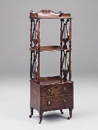 A George IV mahogany three tie