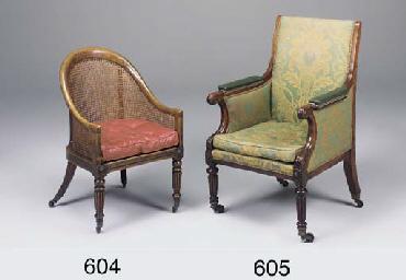 A Regency stained beechwood tu