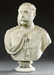 A Victorian sculpted white mar