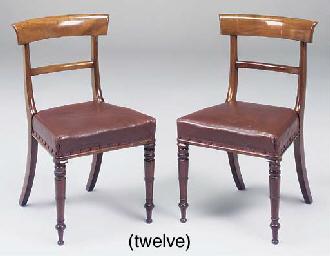 A set of twelve Victorian maho