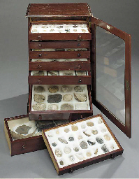 A fossil cabinet,