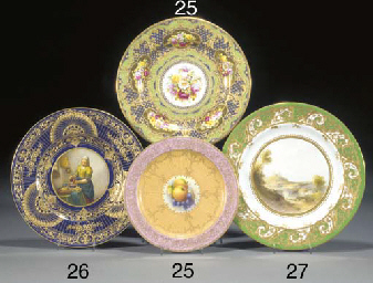 A Royal Worcester plate