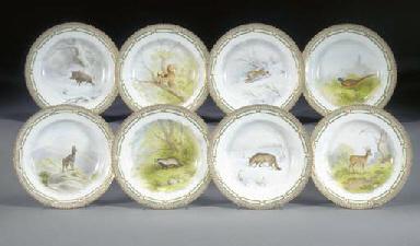 Eight Royal Copenhagen plates