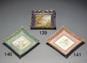 A Sèvres-style turquoise-groun