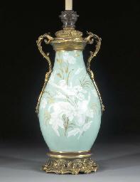 A French porcelain celadon-gro