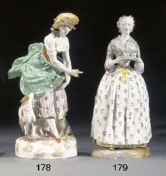 A Continental porcelain figure