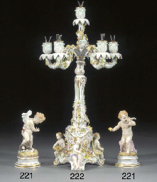 Two Meissen models of putti