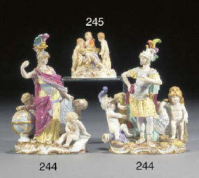 A Meissen group of four putti
