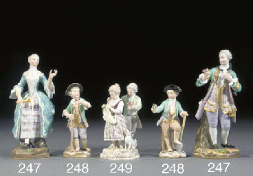 Two Meissen figures of a galla