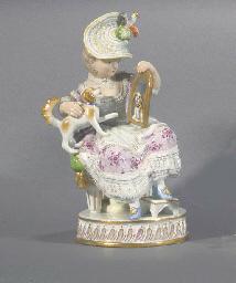 A Meissen figure of a girl