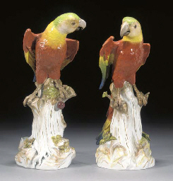 A pair of Meissen models of So