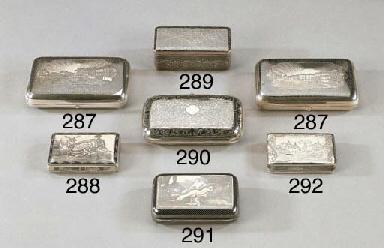 Tabacchiera in argento e niell