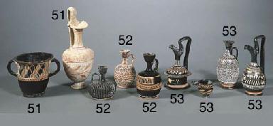 FOUR APULIAN POTTERY VESSELS