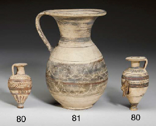 TWO ETRUSCO-CORINTHIAN POTTERY