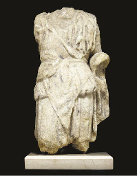 A ROMAN MARBLE FIGURE OF DIONY