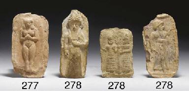 THREE OLD BABYLONIAN TERRACOTT