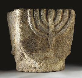AN EARLY JEWISH BASALT COLUMN