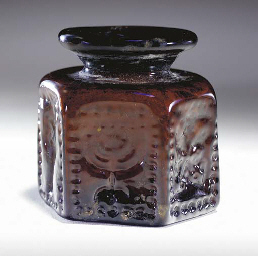 AN EARLY JEWISH HEXAGONAL GLAS