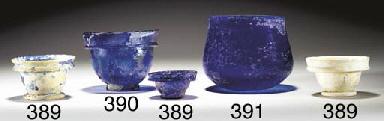 THREE ROMAN GLASS CUPS