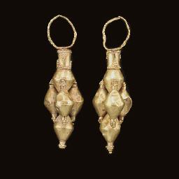 A PAIR OF ELAMITE GOLD EARRING