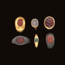 SIX ROMAN TO BYZANTINE RINGS