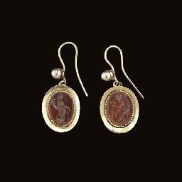 TWO ROMAN CARNELIAN RING STONE