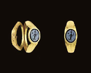 A ROMAN GOLD AND NICOLO TWO-PA