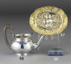 A RUSSIAN SILVER-GILT AND ENAM
