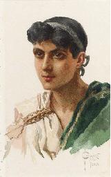 Portrait of a Roman in Green T